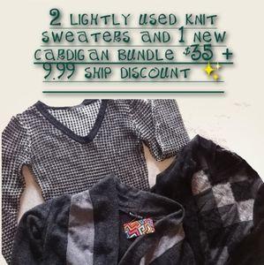 🚚3 bundle sweater and cardigan bundle!
